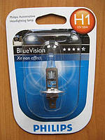 Галогенка H1 PHILIPS 12V 55W 12258BVB1 BlueVision