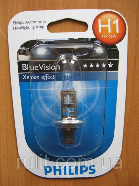 Галогенка H1 PHILIPS 12V 55W 12258BVB1 BlueVision