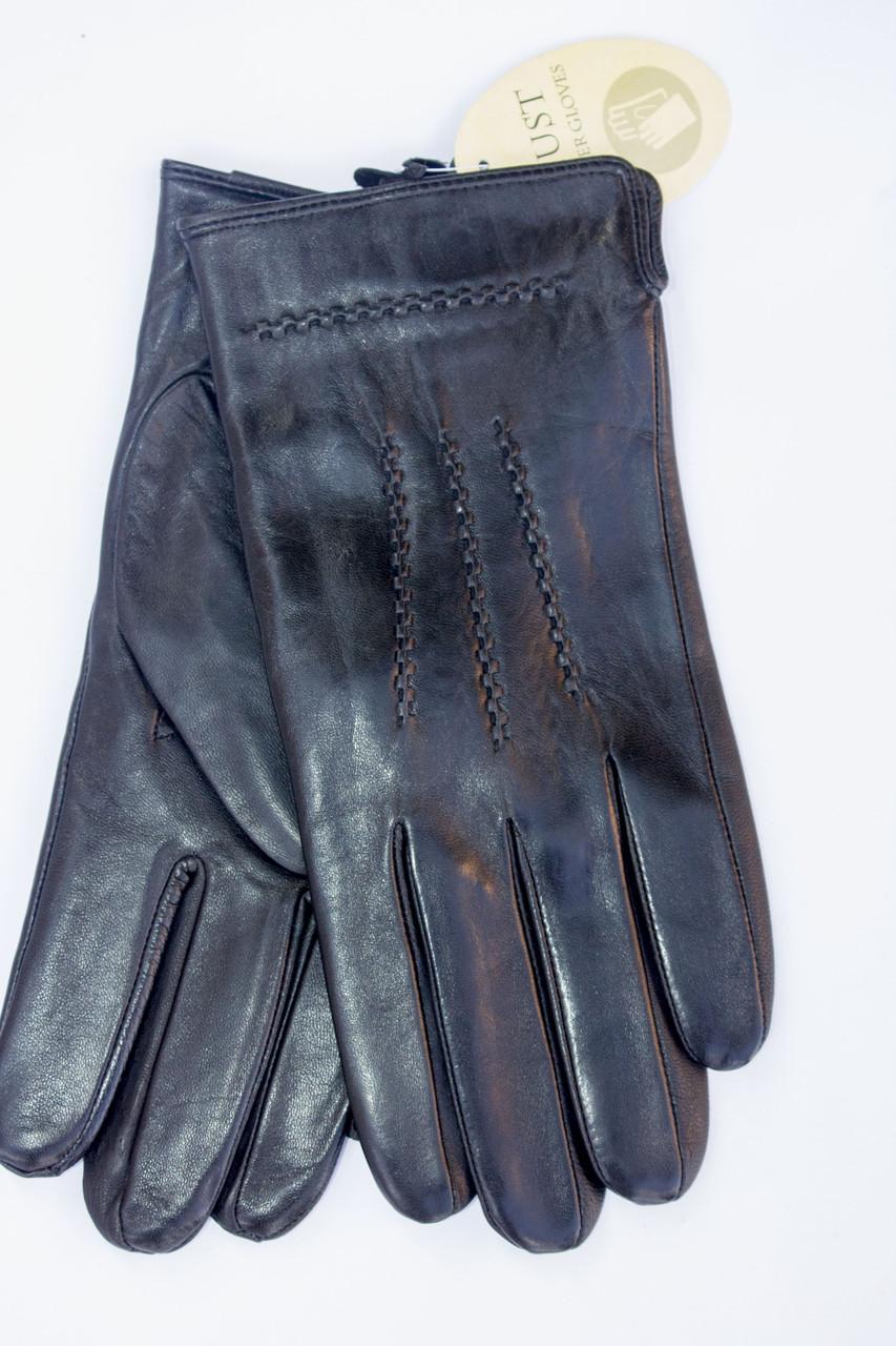 Мужские кожаные перчатки коза - Средние