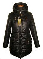 Оригинальный женский зимний пуховик с накладными карманами