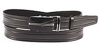 Кожаный мужской ремень высокого качества пряжка автомат черного цвета 3,5 см Украина пряжка с полосой по центр
