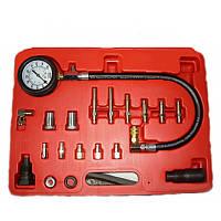 Компрессометр для дизельных двигателей с набором комплектующих Intertool