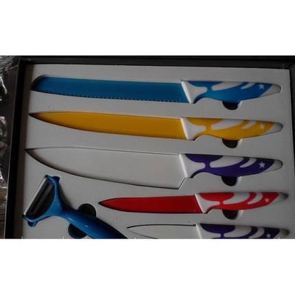 Набор ножей c керамическим покрытием 5шт+экономка, фото 2