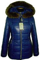 Модная женская зимняя куртка с красивым мехом