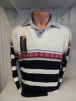 Свитер мужской Ligis, обманка, 2х цветная 004 купиь свитер мужской оптом