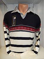 Свитер мужской Ligis, обманка, 2х цветная 005/ купиь свитер мужской оптом