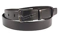 Стильный кожаный мужской ремень пряжка классика черного цвета 3,5 см Украина
