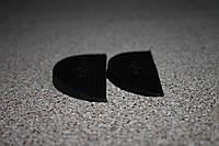 Полиуретановая подкова (рубец на задник) для ремонта обуви 90*40 мм. (Украина), цвет - черный