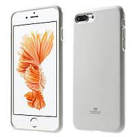 Чехол накладка силиконовый TPU Mercury iJELLY Metallic для Apple iPhone 7 Plus 5.5 белый