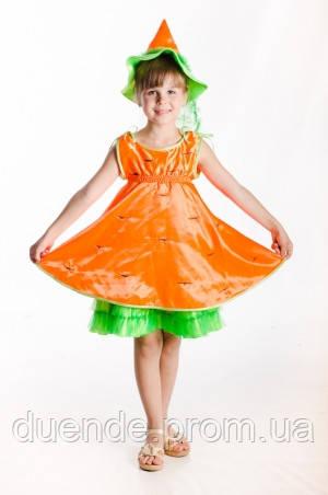 Морковка новогодний костюм для девочки / BL -  ДО16