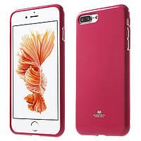 Чехол накладка силиконовый TPU Mercury iJELLY Metallic для Apple iPhone 7 Plus 5.5 малиновый