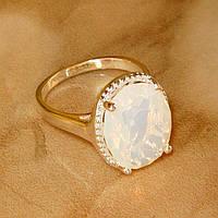 Кольцо с лунным камнем р.19