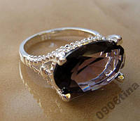 Кольцо с аметистом р.17,5