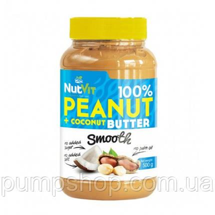 Арахисовая паста с добавлением кокоса Peanut + Coconut Butter OstroVit-500 грамм, фото 2
