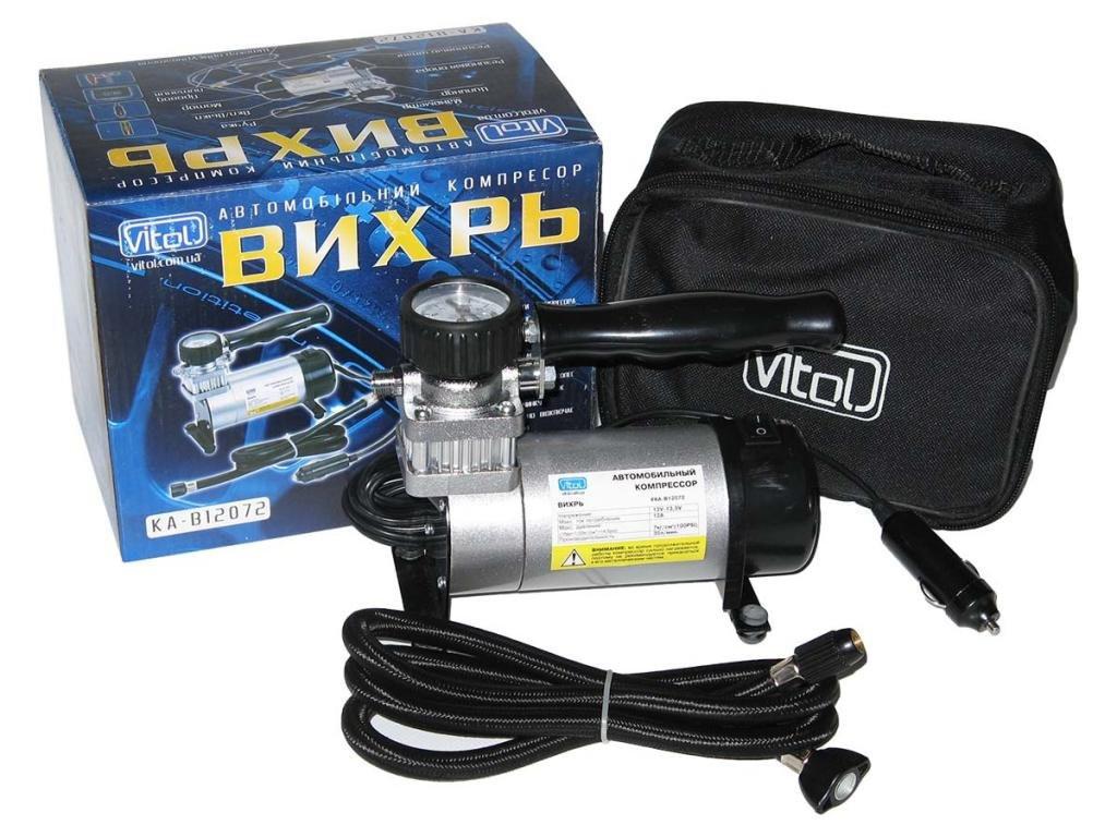 Автомобильный компрессор Вихрь КА-В12072 100psi/12Amp/35 автомобильный насос для подкачки шин от прикуривателя