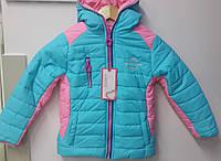 Куртка детская осенне-весенняя для девочек.ТМ Grace Венгрия  134