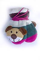 Детские варежки с мягкой игрушкой, фото 1