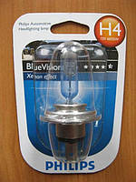 Галогенка H4 PHILIPS 12V 60/55W 12342BVB1 BlueVisi