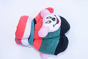 Детские варежки с мягкой игрушкой, фото 2