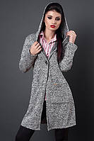 Молодежная куртка кардиган на запах, с поясом, р-ры 44,46,48