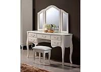 Будуарный столик с зеркалом и пуфом Богемия