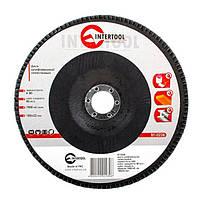Диск шлифовальный лепестковый 180x22 мм, зерно K80 INTERTOOL BT-0228, фото 1