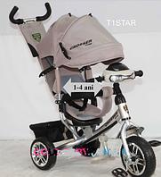 Велосипед детский трехколесный Azimut Crosser One T1 фара (EVA колеса),серый