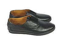 Кожаные черные туфли осень 2016
