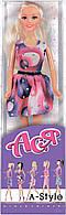 А-Стиль, Набор с куклой 28 см, блондинка в платье со стразами, Ася (35052)