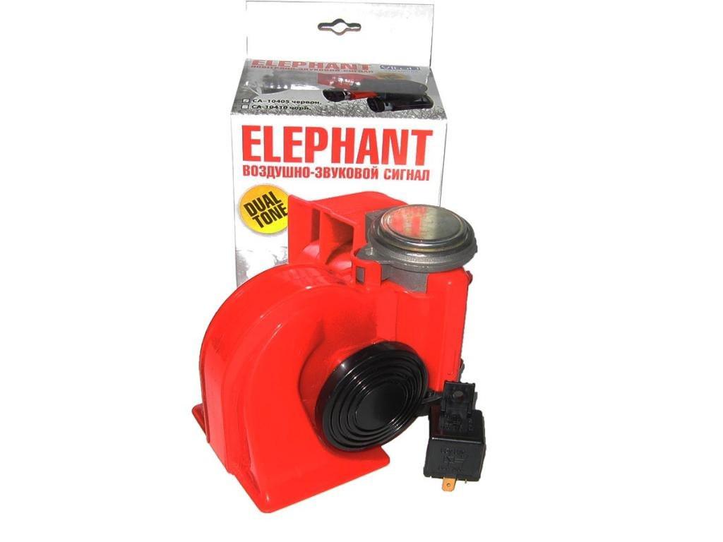 Сигнал повітряний CA-10405 Elephant 12V червоний