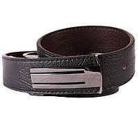 Двухсторонний мужской кожаный ремень черный-коричневый