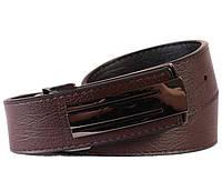 Двухсторонний мужской кожаный ремень коричневый-черный