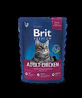 Корм Brit Premium Cat Adult Chicken для взрослых кошек с курицей