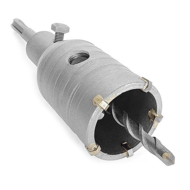 Комплект: сверло корончатое по бетону 46 мм и Переходник SDS Plus 100мм INTERTOOL SD-7046