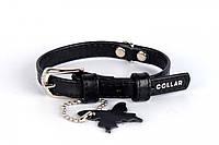 Ошейник Collar Brilliance без украшений черный, фото 1