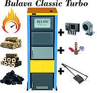 Твердотопливный котел BULAVA classiс turbo 50 кВт. С турбиной и автоматикой. Сталь 6 мм.
