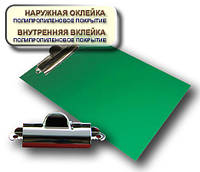 Планшет А5 с прижимом CLIPBOARD PP покрытие зеленый