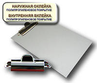 Планшет А5 с прижимом CLIPBOARD PP покрытие белый