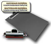 Планшет А5 с прижимом CLIPBOARD PP покрытие серый