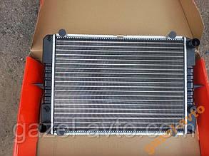 Радиатор водяного охлаждения 3 рядный Газель, Соболь, Рута старого образца (крепление уши) алюминий ДК