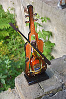 Скрипка - подставка под бутылку, коньяк 100 г, дер-21