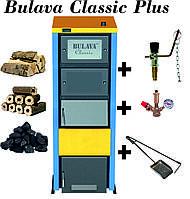 Твердотопливный котел BULAVA classiс plus 50 кВт. С регулятором тяги. Сталь 6 мм.