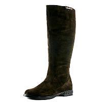 Сапоги зимние женские SND SDZ 421-4 коричневый с натуральной замши размеры: 36 37 39