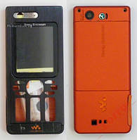 Корпус для Sony Ericsson W880 (black-orange) Качество