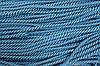 Шнур 7мм спираль (100м) бирюза+т.синий