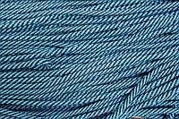 Шнур 7мм спираль (100м) бирюза+т.синий , фото 1