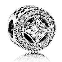 Шарм Винтажное очарование из серебра 925 пробы пандора (pandora)