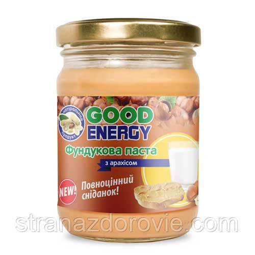 Фундуковая паста з Арахісом-250г,Good Energy