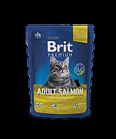 Корм Brit Premium Cat Adult Salmon для взрослых кошек с лососем