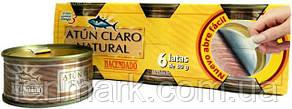 Тунец в собственном соку  Hacendado Atun claro al natural 480 г (6x80 г)